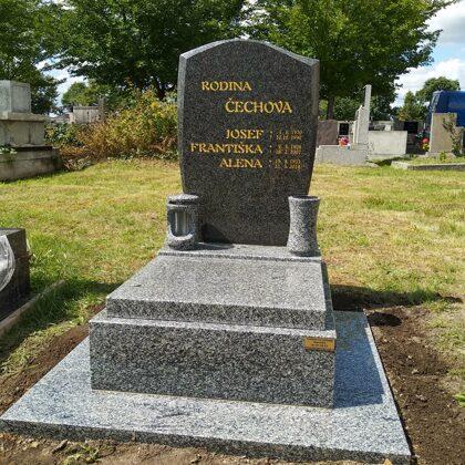 Vzor č.82 - Urnový pomník Vahlovice + Impala vel. 60x70