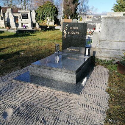 Vzor č.57 - Urnový pomník 100x130 Vahlovice + Impala