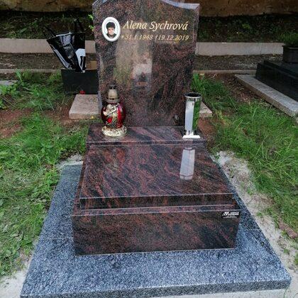 Vzor č.83 - Urnový pomník 60x70 Aruba, chodníček Vahlovice