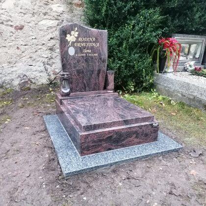 Vzor č.81 - Urnový pomník Aruba vel. 70x100, chodníček Vahlovice
